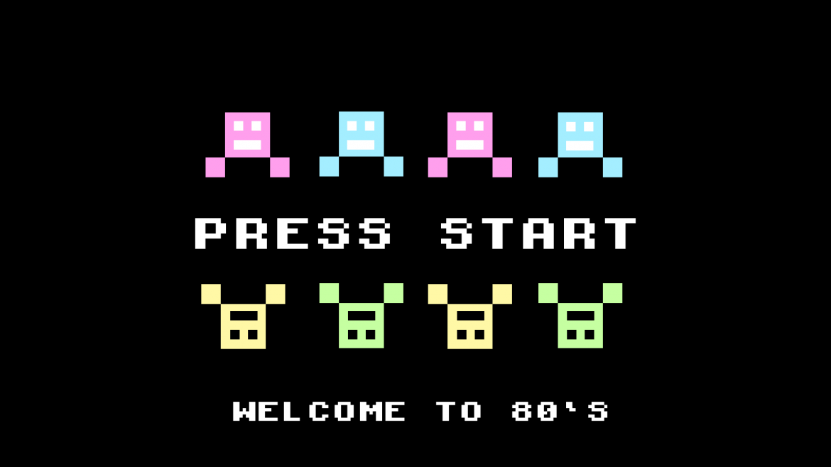 80s style game